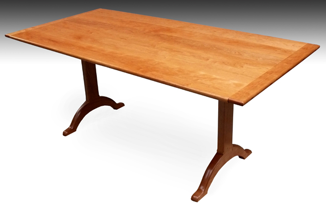 Dining Table Cherry Dining Table Trestle : Cherrytrestletable3 qtr from diningtabletoday.blogspot.com size 650 x 417 jpeg 103kB